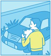 違法駐車の確認のイメージイラスト
