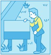 管理看板の設置のイメージイラスト